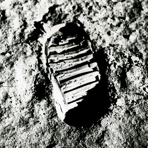 The first footprint on the Moon, July 1969