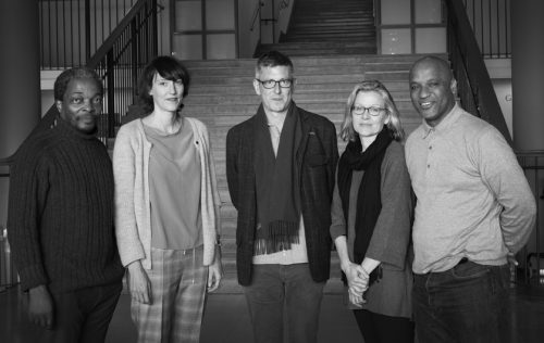 Simon Njami, Esther Ruelfs, Duncan Forbes, Jennifer Blessing and Mark Sealy. Photo: Cecilia Sandblom © Hasselblad Foundation